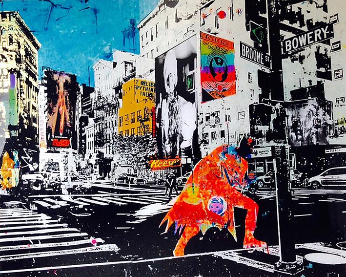 Sandra Rauch New York American heroes 250 x 200 cm